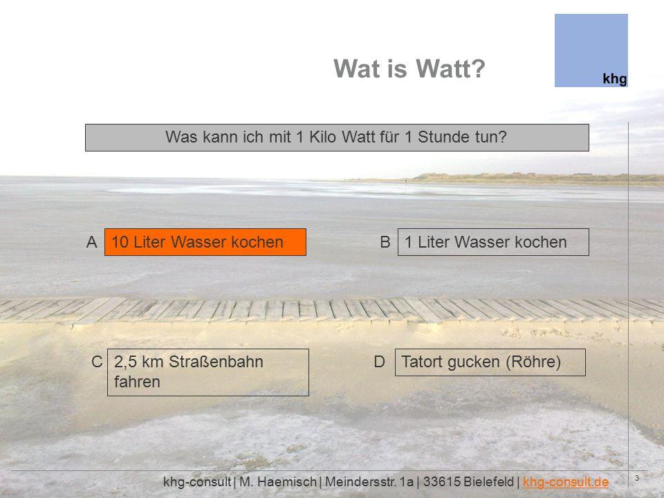 3 Wat is Watt. khg-consult | M. Haemisch | Meindersstr.