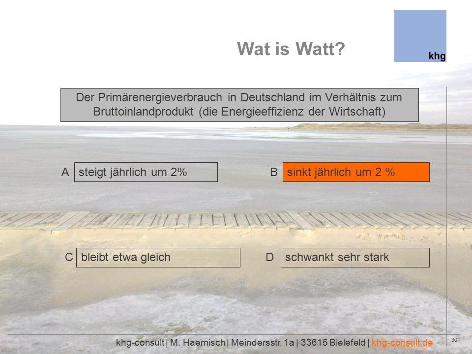 30 Wat is Watt. khg-consult | M. Haemisch | Meindersstr.