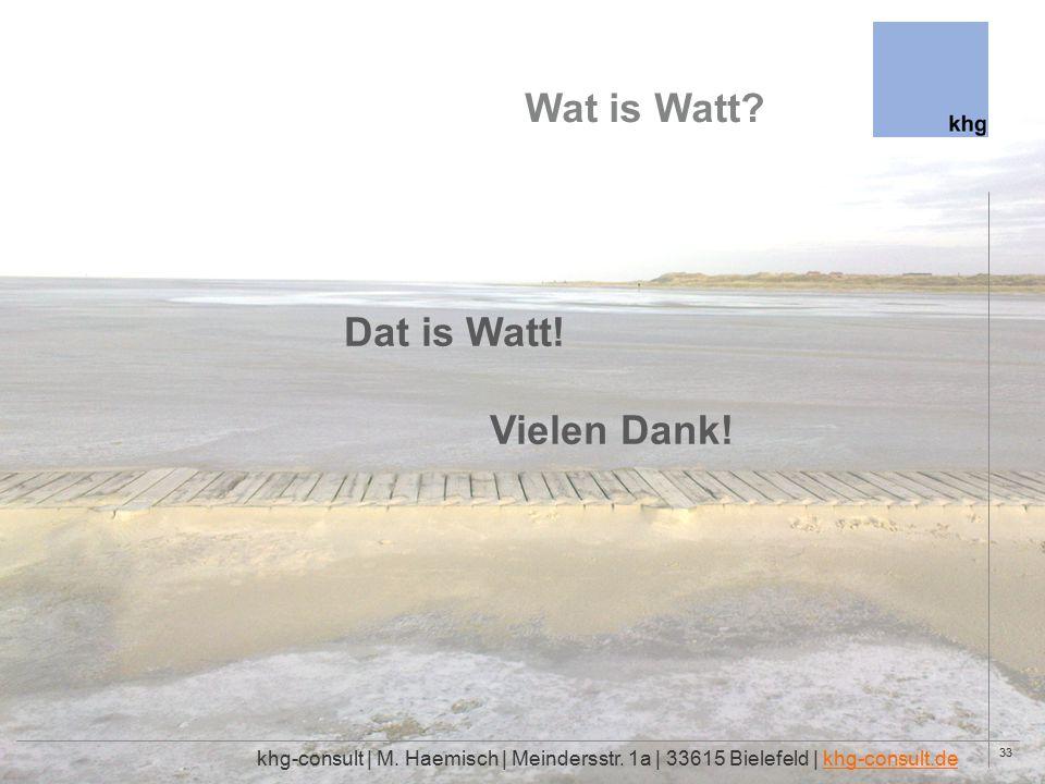 33 Wat is Watt. khg-consult | M. Haemisch | Meindersstr.