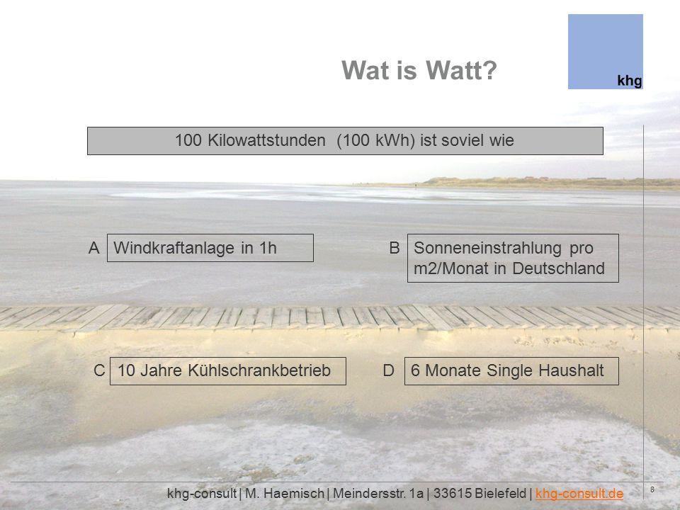 8 Wat is Watt. khg-consult | M. Haemisch | Meindersstr.