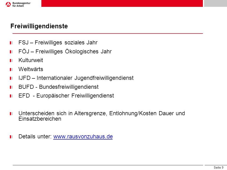 Seite 20 www.zav-auslandsvermittlung.de www.rausvonzuhaus.de www.daad.de