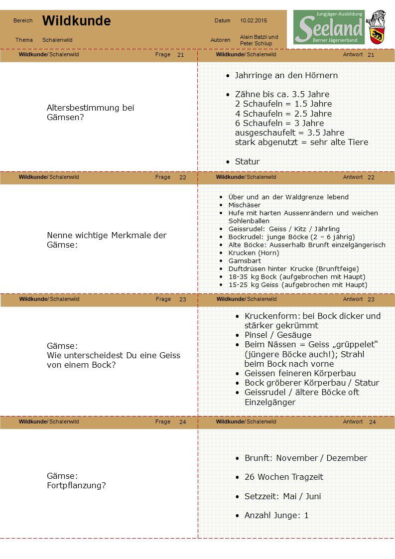 Wildkunde/ SchalenwildFrageWildkunde/ SchalenwildAntwort Wildkunde/ SchalenwildFrageWildkunde/ SchalenwildAntwort Wildkunde/ SchalenwildFrageWildkunde/ SchalenwildAntwort Wildkunde/ SchalenwildFrageWildkunde/ SchalenwildAntwort Bereich Wildkunde Datum10.02.2015 ThemaSchalenwildAutoren Alain Batzli und Peter Schlup 25 26 28 27 26 27 28 Gämse: Lebensraum.