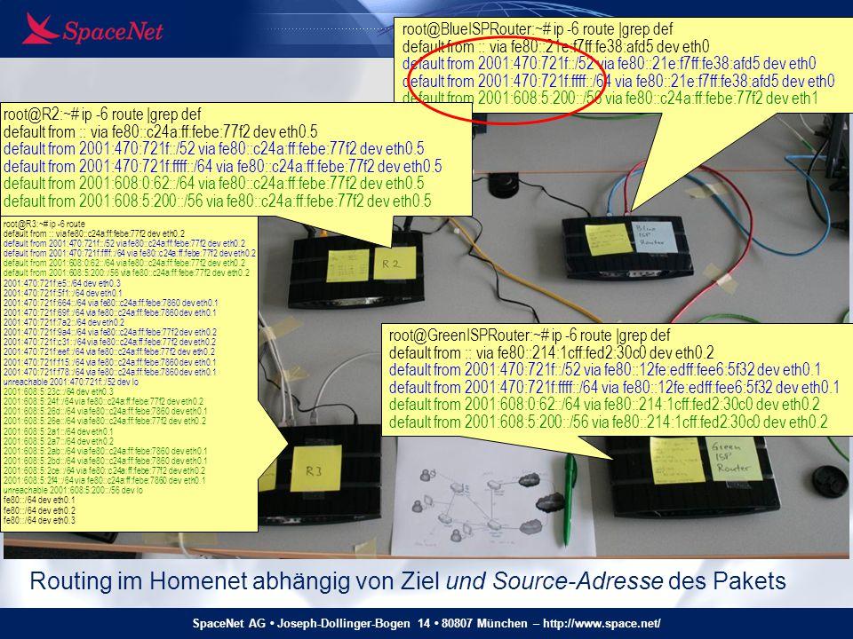 SpaceNet AG Joseph-Dollinger-Bogen 14 80807 München – http://www.space.net/ Homenet - Testnetz root@BlueISPRouter:~# ip -6 route |grep def default fro