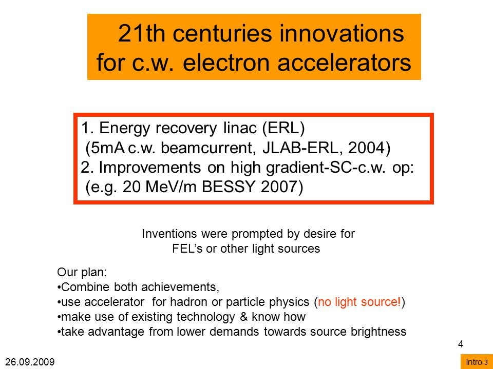 26.09.2009 4 21th centuries innovations for c.w.