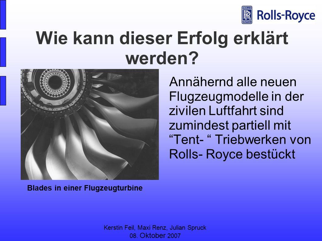 Kerstin Feil, Maxi Renz, Julian Spruck 08. Oktober 2007 Wie kann dieser Erfolg erklärt werden? Annähernd alle neuen Flugzeugmodelle in der zivilen Luf