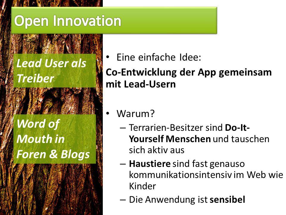 Eine einfache Idee: Co-Entwicklung der App gemeinsam mit Lead-Usern Warum.