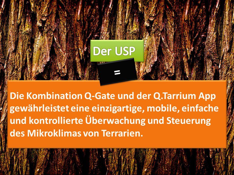 Die Kombination Q-Gate und der Q.Tarrium App gewährleistet eine einzigartige, mobile, einfache und kontrollierte Überwachung und Steuerung des Mikroklimas von Terrarien.