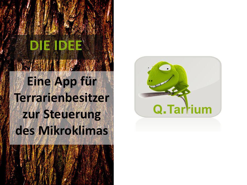 DIE IDEE Eine App für Terrarienbesitzer zur Steuerung des Mikroklimas Q. Tarrium