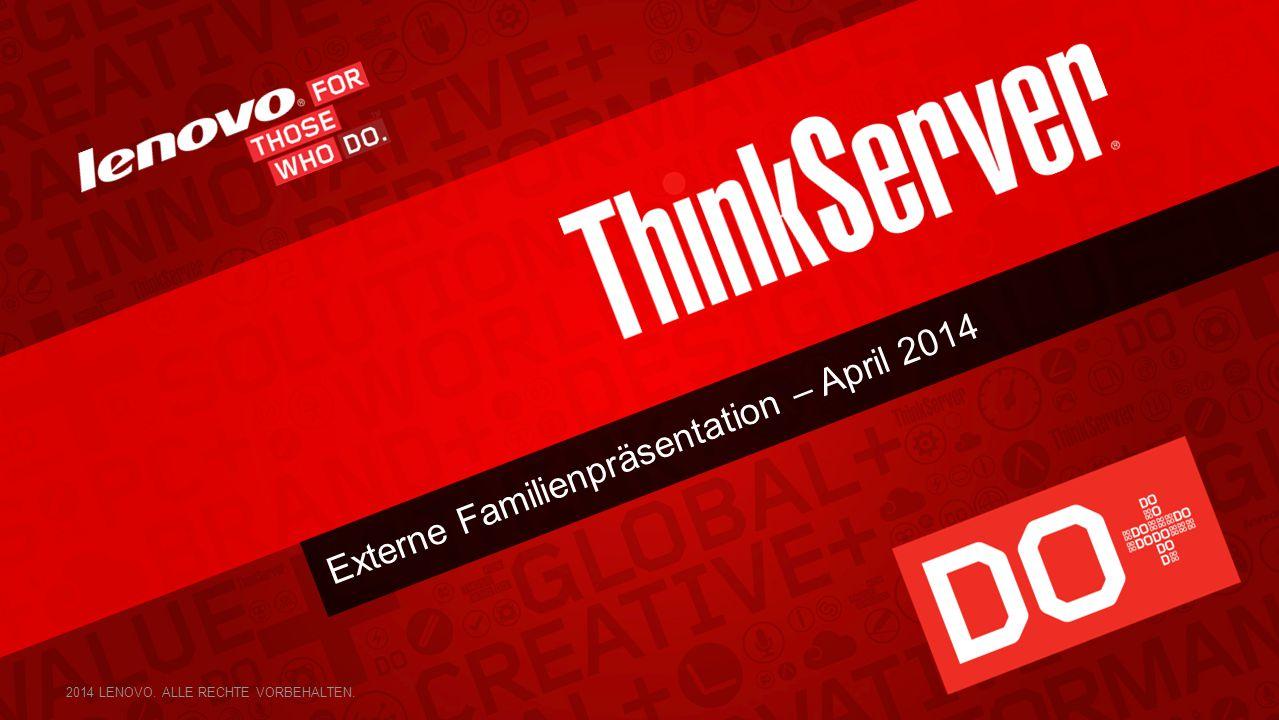 22 ThinkServer TS140 TECHNISCHE DATEN 22 Leistungsstark, zuverlässig und erschwinglich Leistungsstark und dennoch erschwinglich Branchenführende Umweltfreundlichkeit Intel®-AMT®-Verwaltbarkeit HOME MODELL-MERKMALE Formfaktor: 1P-Tower (4 HE/25 l) CPU: Pentium, Core i3, Xenon E3-12XXv3 Arbeitsspeicher: 4 DIMM DDR3 ECC/nECC (nur PRC) UDIMM (max.