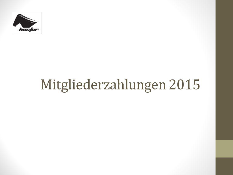 Mitgliederzahlungen 2015
