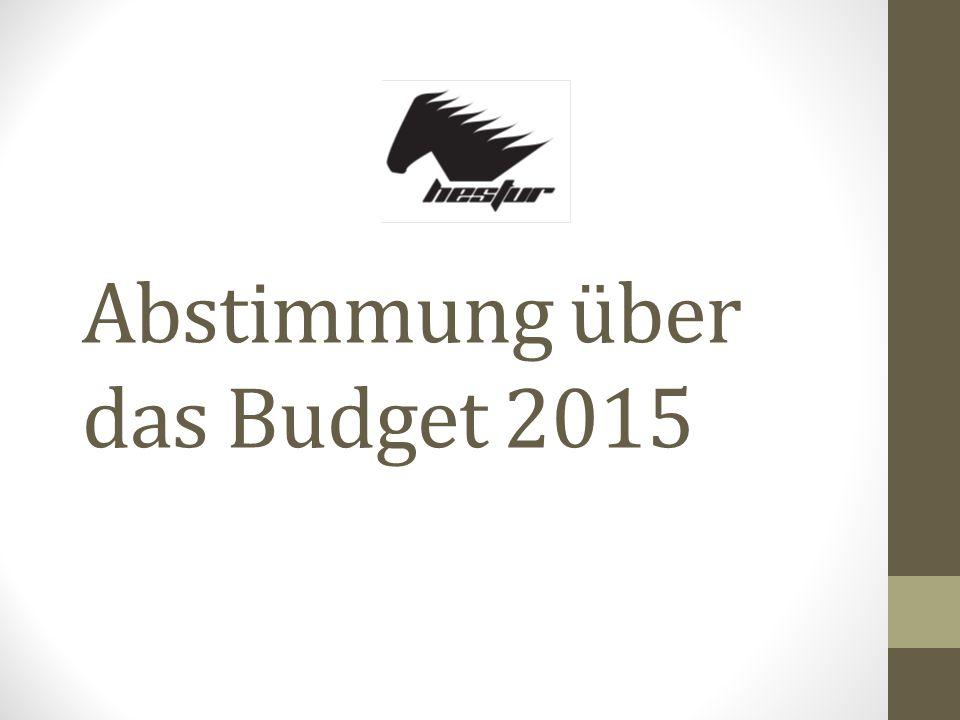 Abstimmung über das Budget 2015