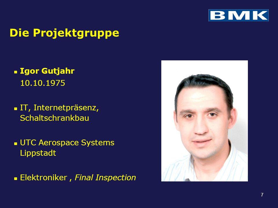 Die Projektgruppe Igor Gutjahr 10.10.1975 IT, Internetpräsenz, Schaltschrankbau UTC Aerospace Systems Lippstadt Elektroniker, Final Inspection 7