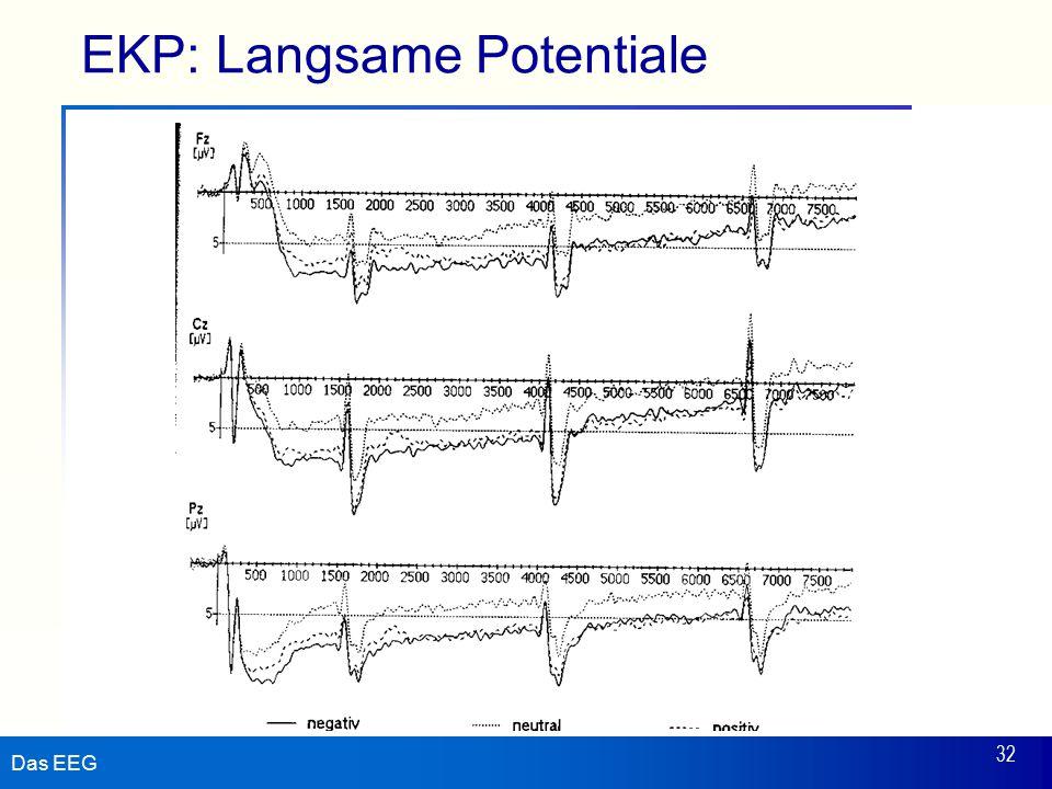Das EEG 32 EKP: Langsame Potentiale
