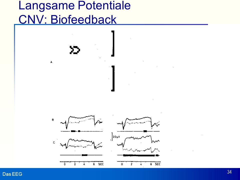 Das EEG 34 Langsame Potentiale CNV: Biofeedback