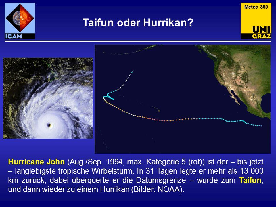 Taifun oder Hurrikan.Hurricane John (Aug./Sep. 1994, max.