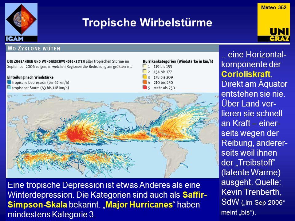Ein Hurrikan beginnt als tropische Störung, die sich zu einem organi- sierten System von Gewittern ausweitet.