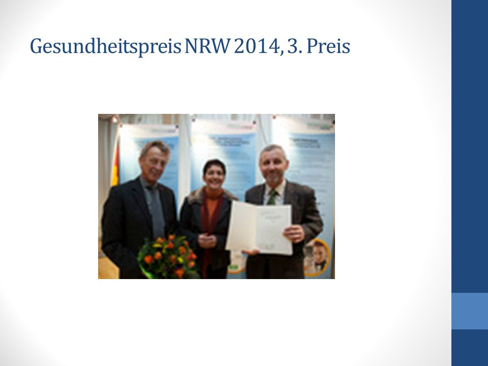 Gesundheitspreis NRW 2014, 3. Preis