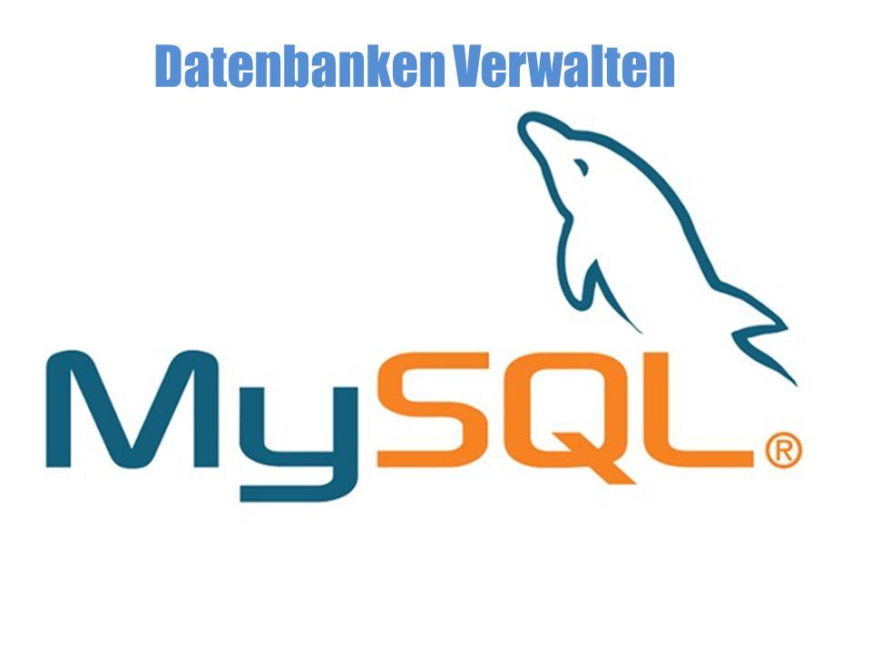 Gliederung Titel Gliederung Funktionsweise einer DB Einführung in MySQL PHPMyAdmin MySQL Basics Bibliographie Ende