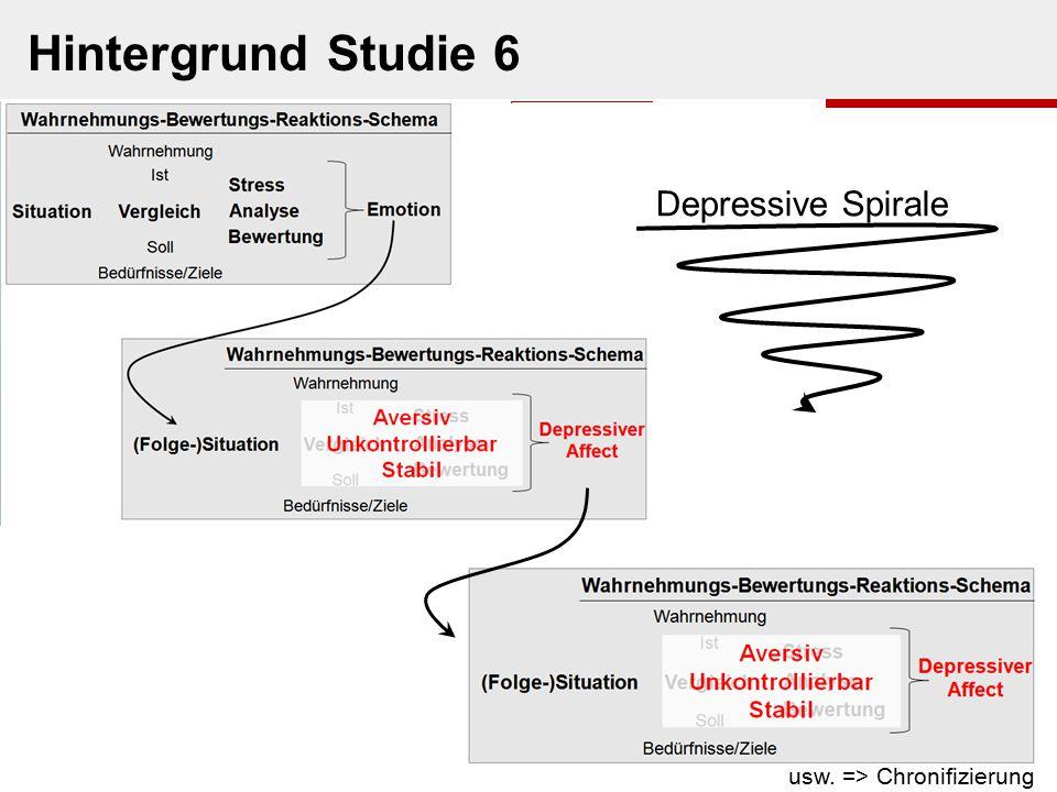 usw. => Chronifizierung Depressive Spirale Hintergrund Studie 6