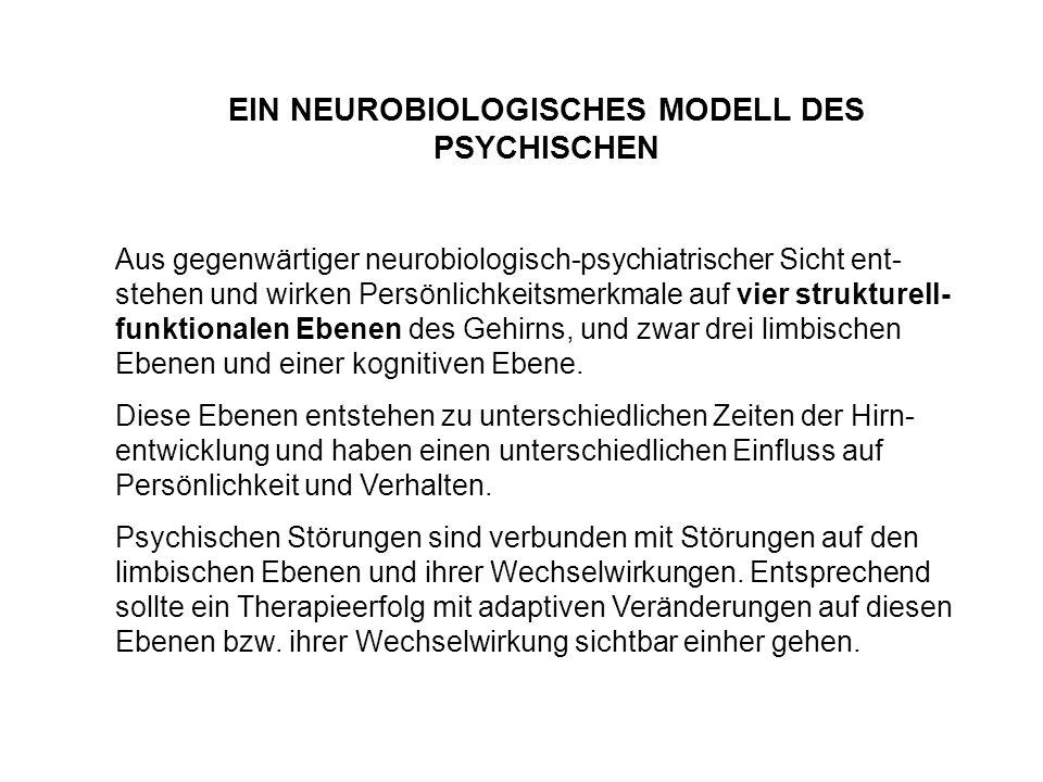 Aus gegenwärtiger neurobiologisch-psychiatrischer Sicht ent- stehen und wirken Persönlichkeitsmerkmale auf vier strukturell- funktionalen Ebenen des G