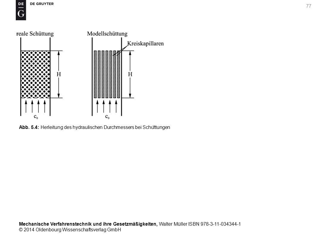 Mechanische Verfahrenstechnik und ihre Gesetzmäßigkeiten, Walter Müller ISBN 978-3-11-034344-1 © 2014 Oldenbourg Wissenschaftsverlag GmbH Abb.