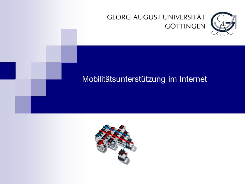 1.Mobilitätsunterstützung im Internet 1.12 Prof. Dr.