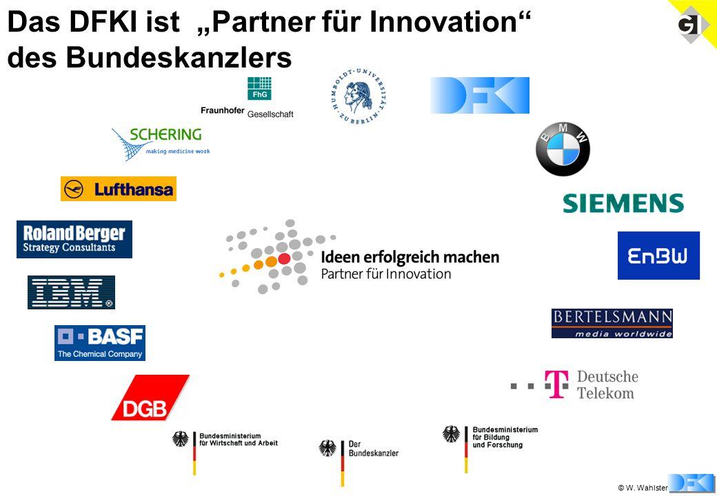 """© W. Wahlster Das DFKI ist """"Partner für Innovation des Bundeskanzlers"""