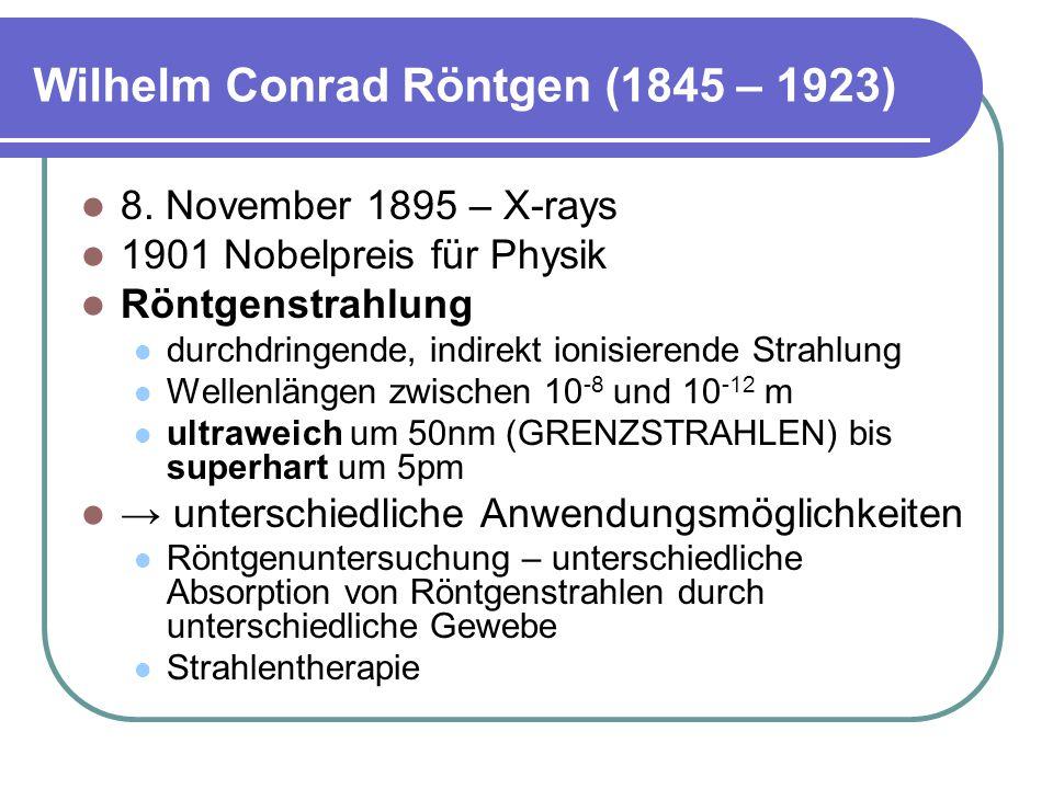Wilhelm Conrad Röntgen (1845 – 1923) 8.