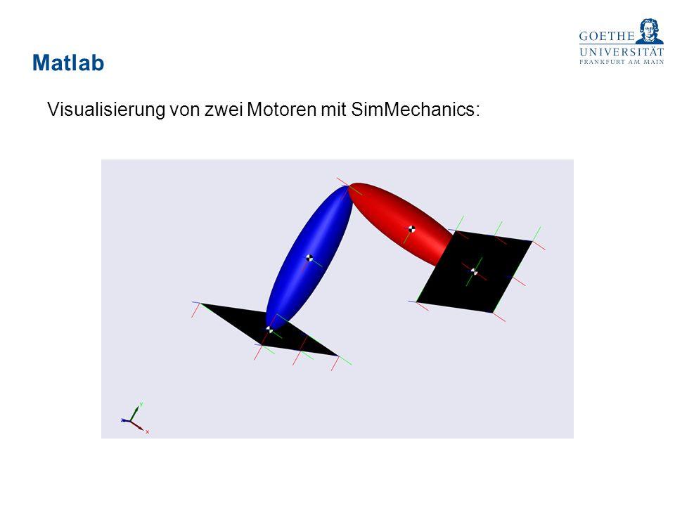 Matlab Visualisierung von zwei Motoren mit SimMechanics: