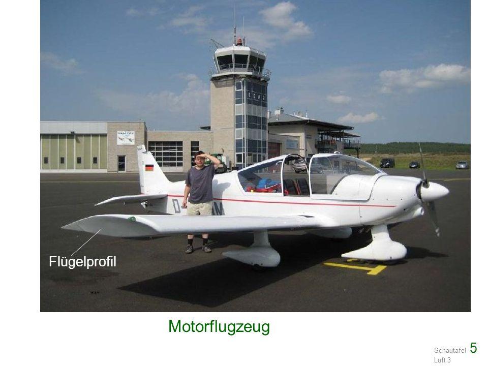 Schautafel 5 Luft 3 Motorflugzeug Flügelprofil