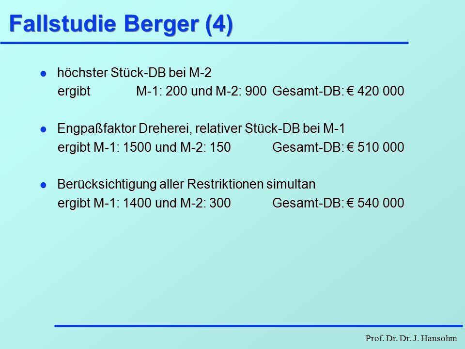 Prof. Dr. Dr. J. Hansohm Fallstudie Berger (LP-2)