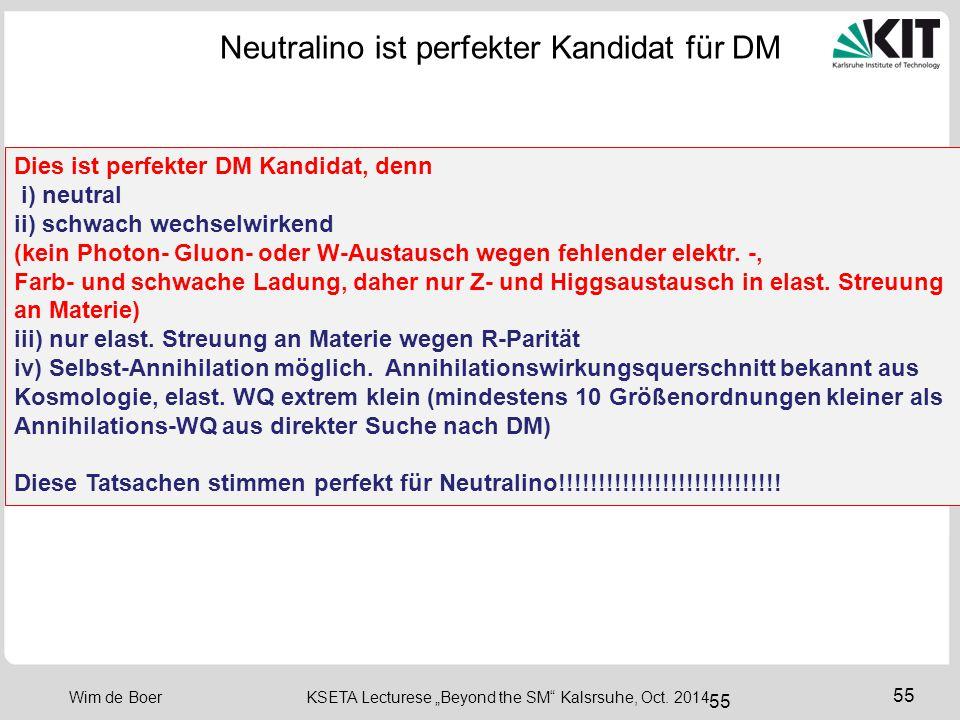 "56 Wim de Boer KSETA Lecturese ""Beyond the SM Kalsrsuhe, Oct. 2014 56 R-Parität"