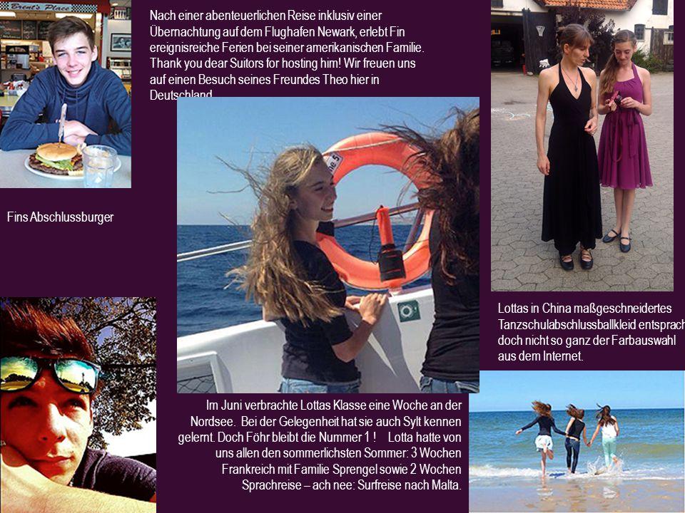 Im Juni verbrachte Lottas Klasse eine Woche an der Nordsee.