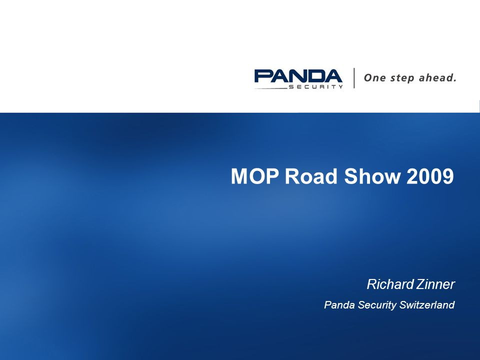 17 MOP Road Show 2009 Richard Zinner Panda Security Switzerland