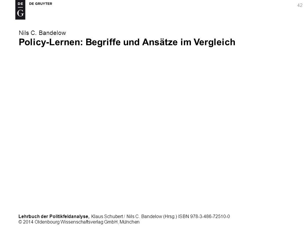 Lehrbuch der Politikfeldanalyse, Klaus Schubert / Nils C.