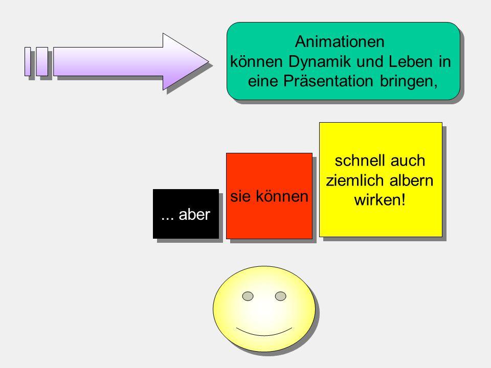 Im Gegensatz zu den Möglichkeiten früherer Jahre, bietet PowerPoint nahezu unzählige Optionen der Visualisierung. Schatten, Fülleffekte, Strukturen un