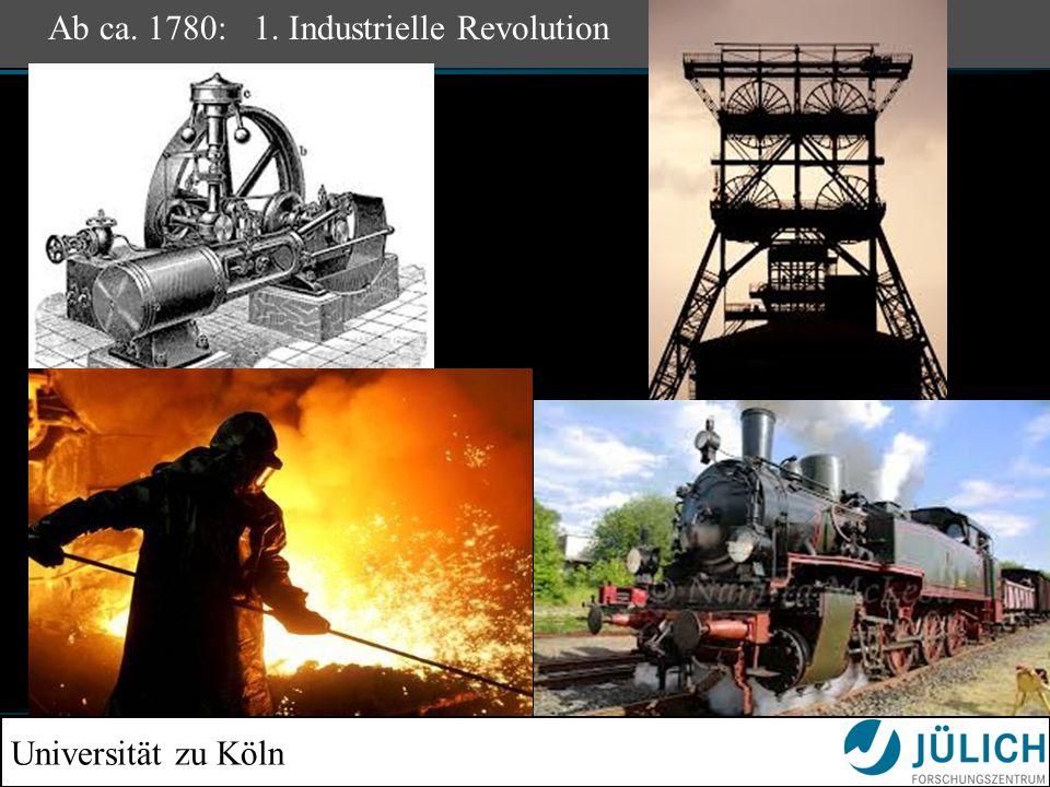 Universität zu Köln Ab ca. 1780: 1. Industrielle Revolution
