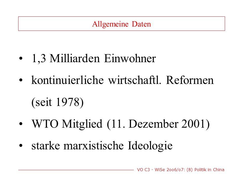 VO C3 - WiSe 2oo6/o7: (8) Politik in China Demokrat.