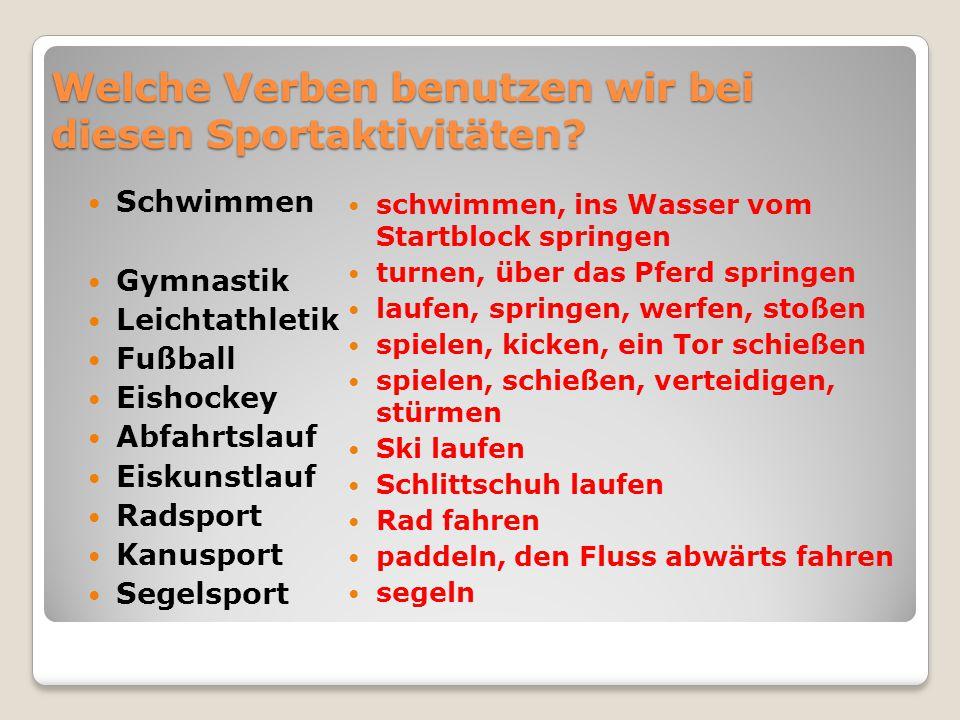 Gruppe A: Hledej v nabídce a napiš, který druh sportu se pod daným číslem skrývá: z.