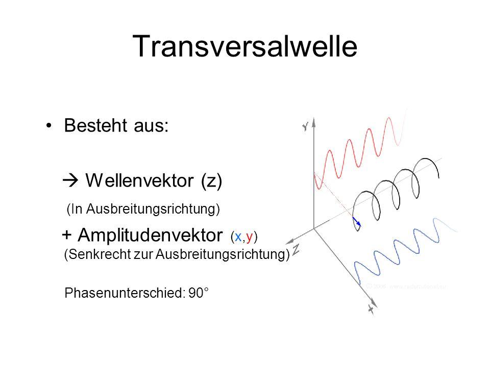 """Theorie/Grundwissen Polarisation Sonnenlicht besteht aus """"unendlich vielen und verschiedenen Transversalwellen."""