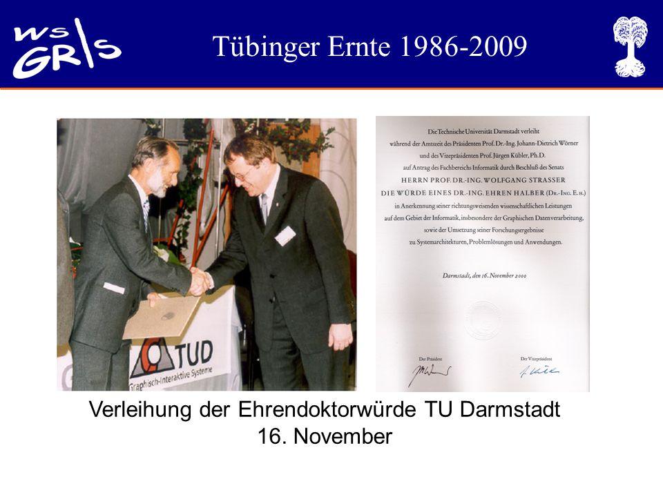 Tübinger Ernte 1986-2009 Verleihung der Ehrendoktorwürde TU Darmstadt 16. November
