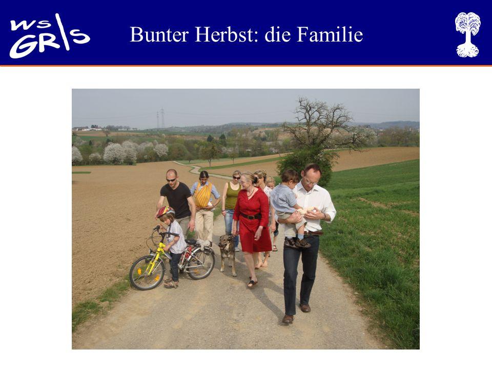 Bunter Herbst: die Familie