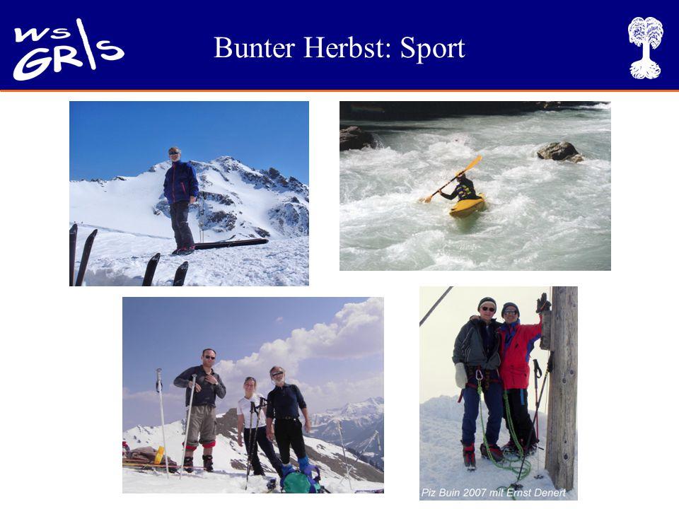 Bunter Herbst: Sport