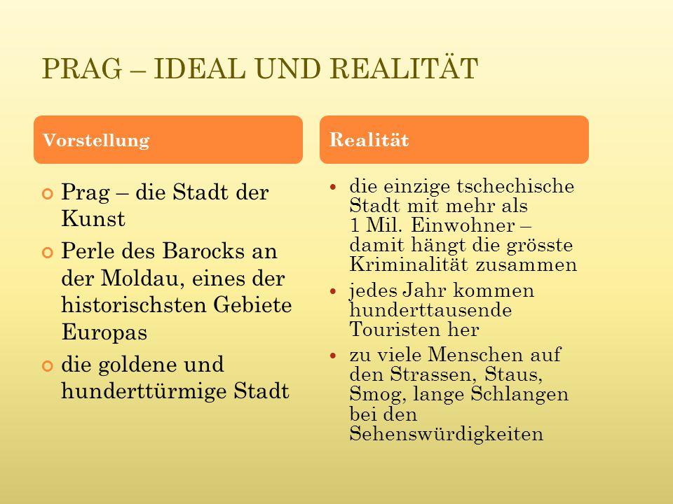P RAG – D AS Z ENTRUM DER T SCHECHISCHEN R EPUBLIK Sucht bitte Argumente, die beweisen, dass Prag das politische Zentrum Tschechiens ist.