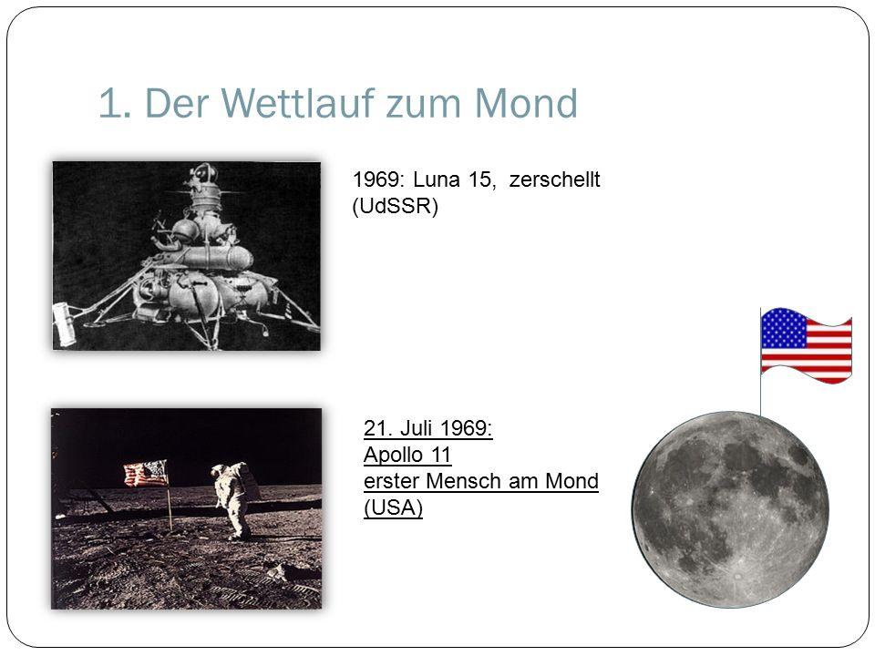 1.Der Wettlauf zum Mond 1969: Luna 15, zerschellt (UdSSR) 21.