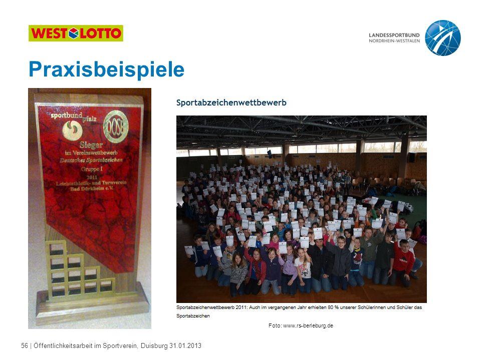 56   Öffentlichkeitsarbeit im Sportverein, Duisburg 31.01.2013 Praxisbeispiele Foto: www.rs-berleburg.de