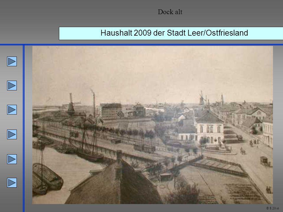 Haushalt 2009 der Stadt Leer/Ostfriesland Dock alt © 8.20 st