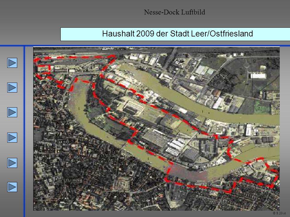 Haushalt 2009 der Stadt Leer/Ostfriesland Nesse-Dock Luftbild © 8.20 st