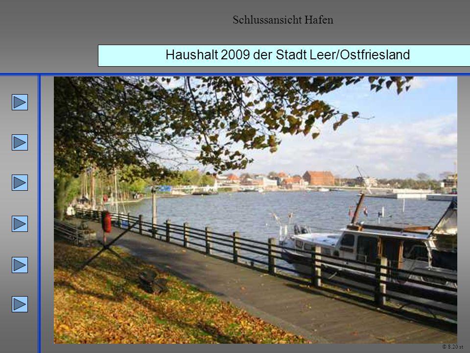 Haushalt 2009 der Stadt Leer/Ostfriesland Schlussansicht Hafen © 8.20 st