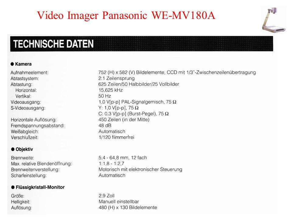 Video Imager Panasonic WE-MV180A